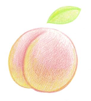 Handwritten peach