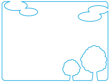 Frame (cloud and tree)