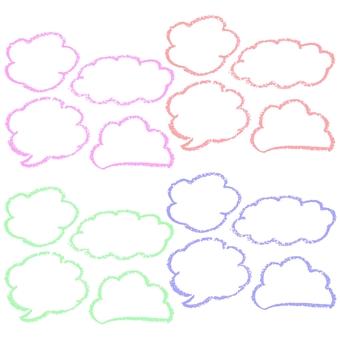 크레용으로 그린 구름