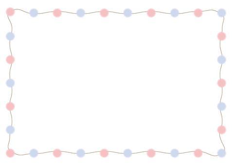 Pink & amp; blue dot frame