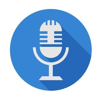 Flat icon - microphone