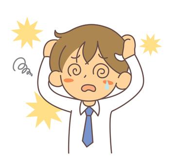 A man holding a panic head