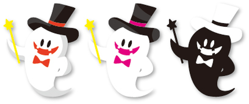 Halloween ★ Obake White Background
