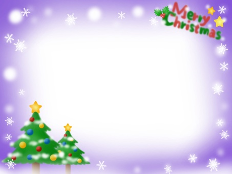 Christmas tree frame (purple)