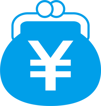 Gamaguchi _ yen mark _ light blue
