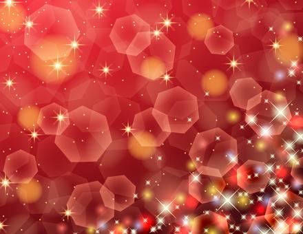 カラフルに輝くキラキラの背景/赤
