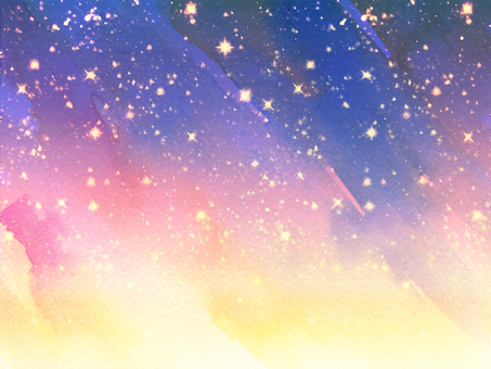 Hand-painted watercolors star gradation