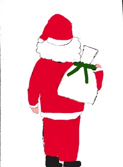 The back of Santa
