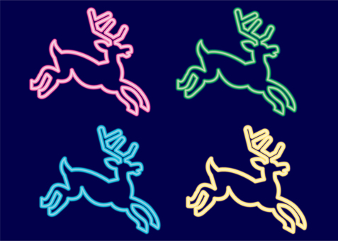 Christmas neon · reindeer