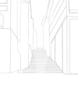 건물 흑백