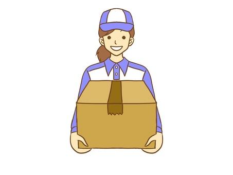 女性送貨員