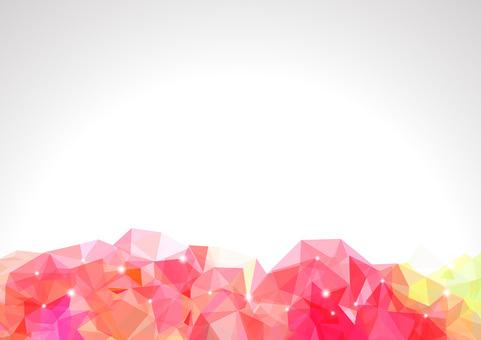 Polygon banner - Strawberry