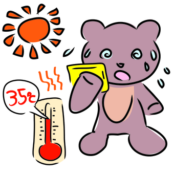 Bena-kun hot weather