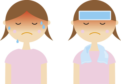 Heat stroke (girls · girls · treatment)