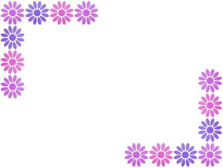 お花のフレーム2 ピンク系