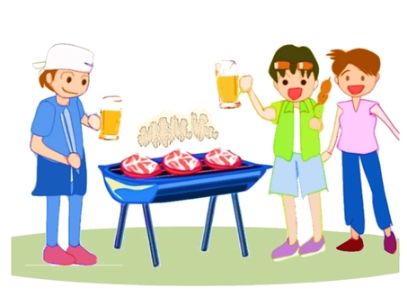 Illustration of barbecue.