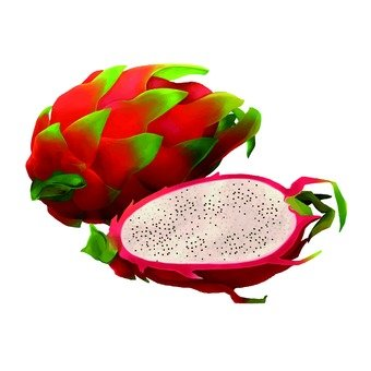Dragon fruit, cut