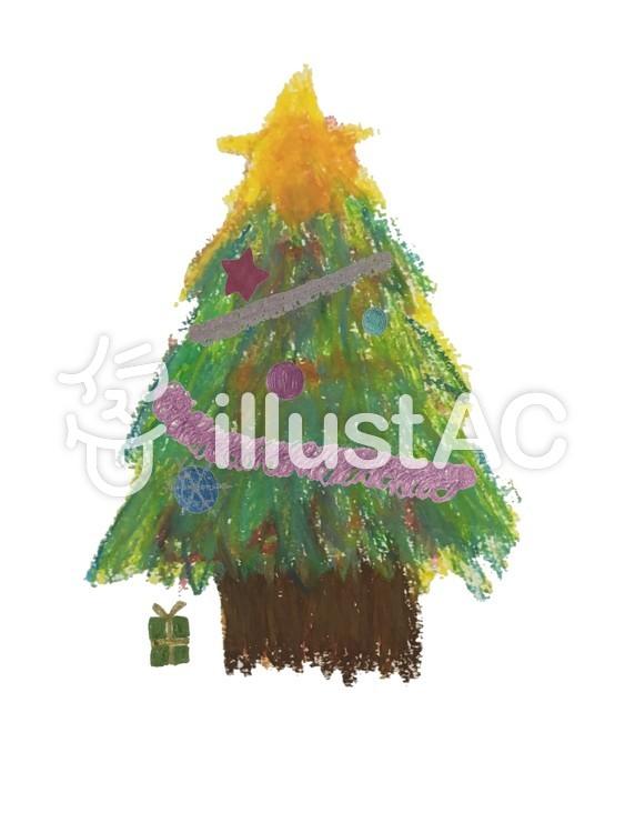 クリスマスツリー04のイラスト
