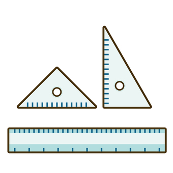 Ruler and triangle ruler