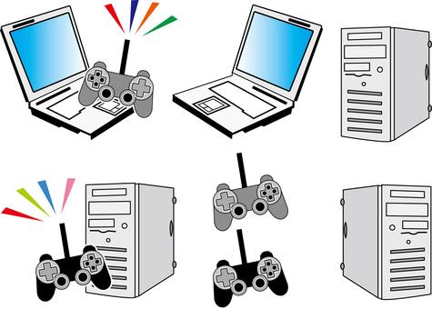 Gaming PC controller illustration illustration