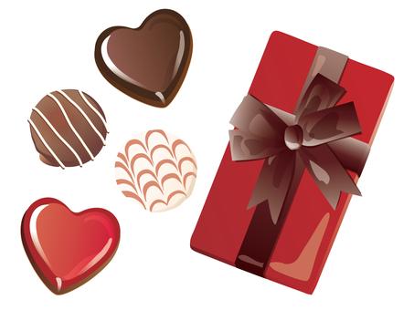 Heart chocolate and box_03