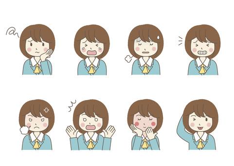 Female facial expression 02