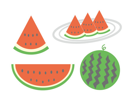 Watermelon (set) (light color)