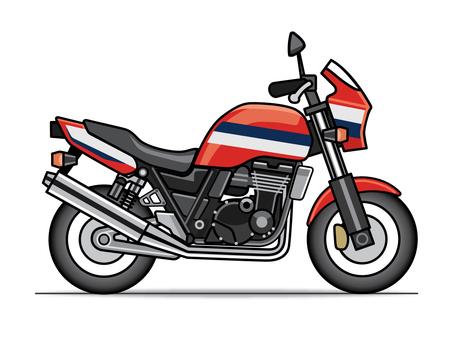 Motorcycle illustration (large size)