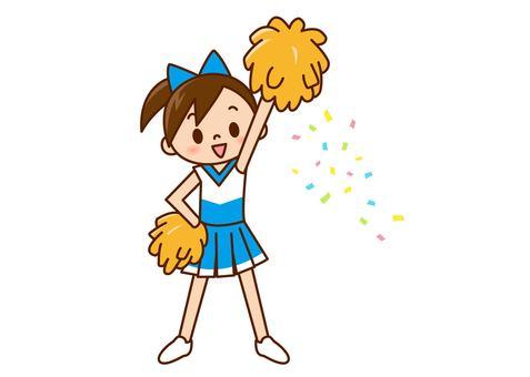 Cheerlead - one hand raised light blue