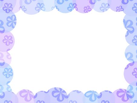 Round flower frame (purple)