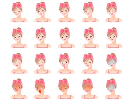 Female oblique face / facial expression