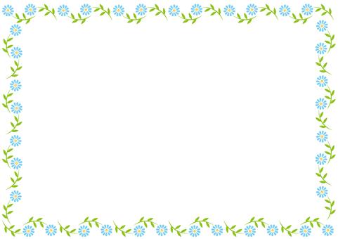 Frame-pretty flowers-blue