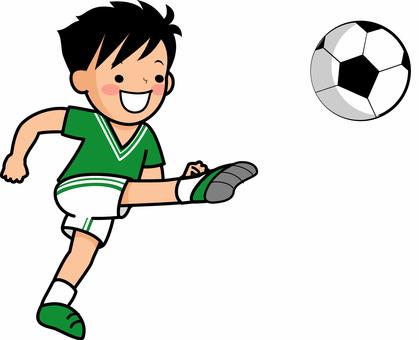 Boys playing soccer 2