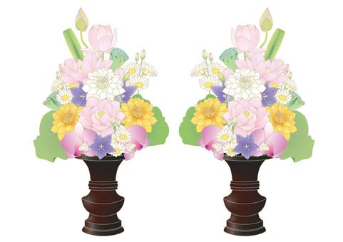 Buddha flower _ lotus and dahlia