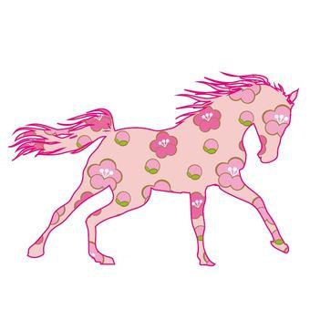 Horse illustration postcard