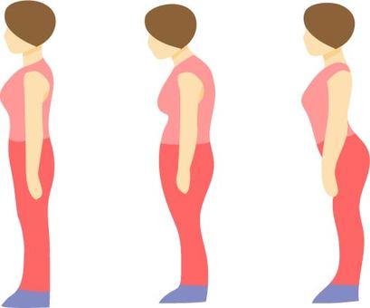 良い姿勢|シルエット イラストの無料ダウンロードサイト「シルエットAC」