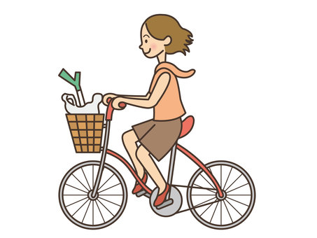 Person / Woman / Bicycle / Shopping