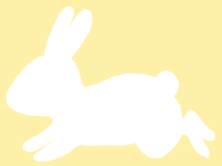 兔子剪影白色