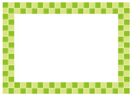 Frame - color tile - green