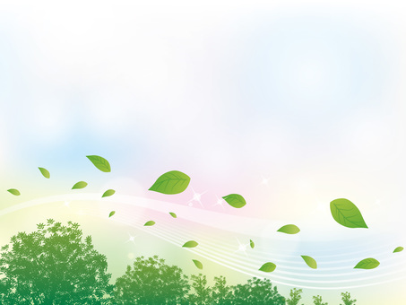 Sparkling stream line background between tree and leaves Background 04