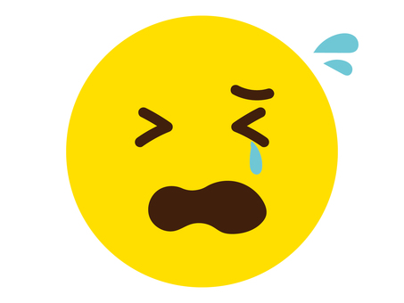 Cry cry face icon