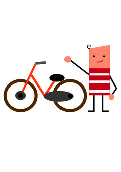 自行車和人