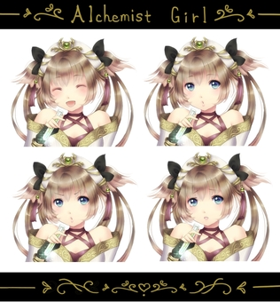 Alchemist's girl (with transparent PNG)