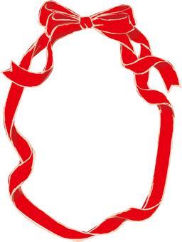 Red ribbon frame 1