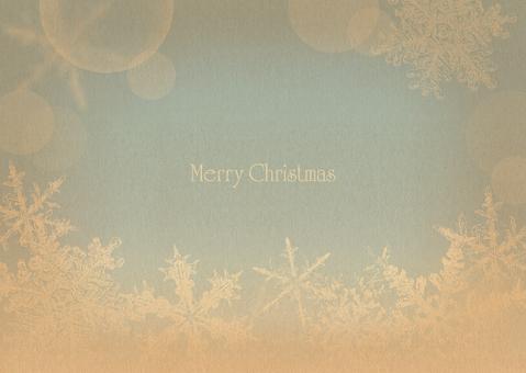 Christmas frame Snow Crystal Blue 2
