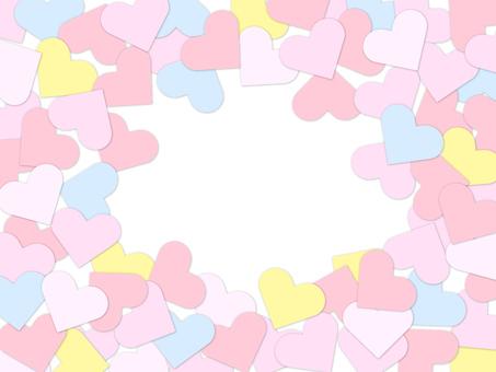 Pink heart frame
