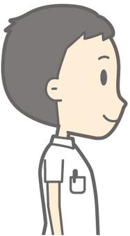 Male nurse - standing right beside - bust