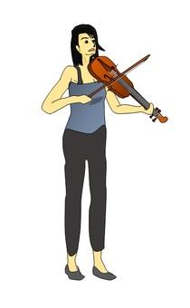 바이올린을 연주 여자 그 6
