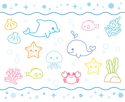 Fun pleasant sea creatures ~ し ろ き ~