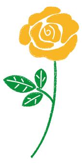 黄色いバラ_手描き
